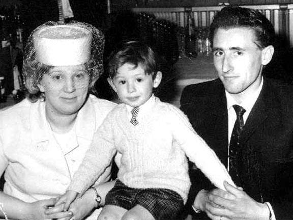 Colin Fry with parents